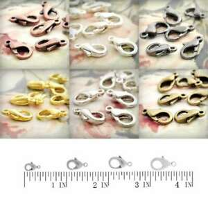 30pcs-Lobster-Claw-Clasp-Connectors-Craft-Necklace-Jewelry-Findings-14x7x3-5mmAA