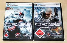 2 PC SPIELE SET CRYSIS & CRYSIS WARHEAD - FSK 18
