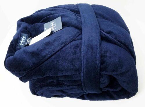 Mens Big and Tall Harbor Bay Shadow Stripe Fleece Robe W// Pockets /& Belt SOFT