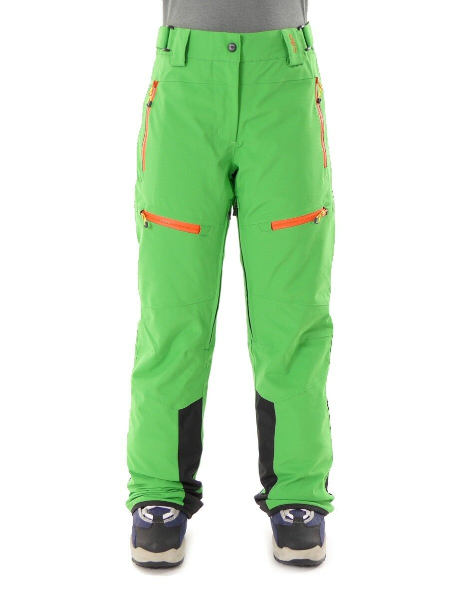 CMP Ski Pants Winter Snowboard Green climapredect Touch Fastener Warm