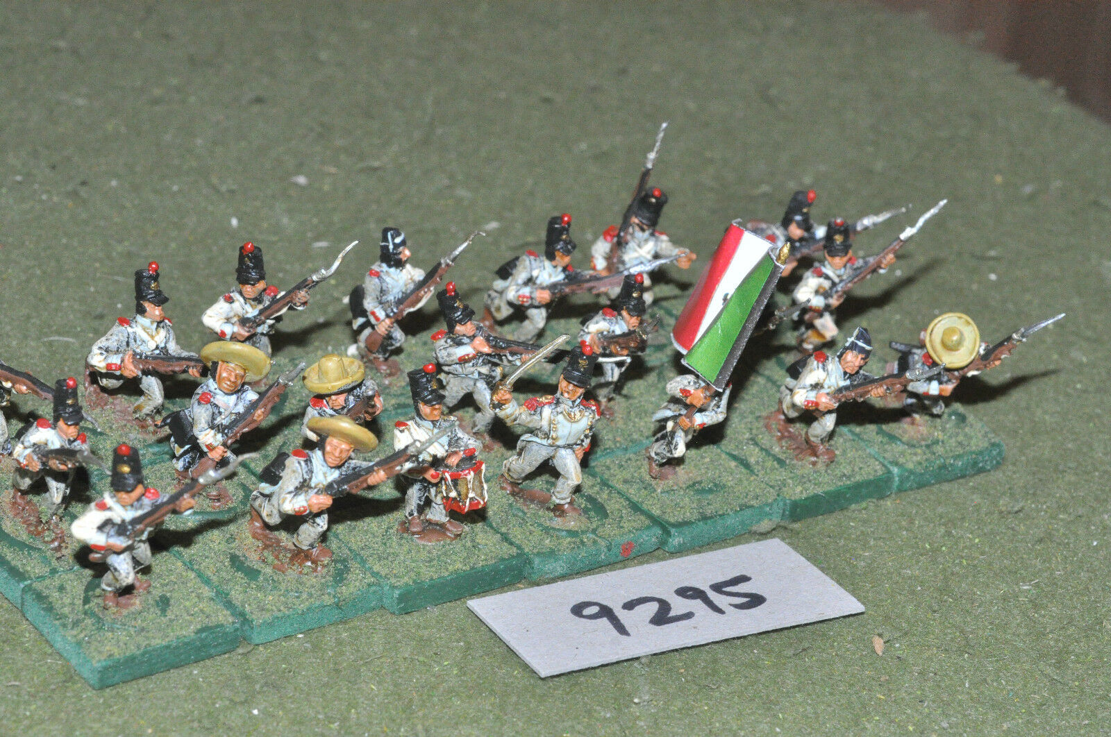 25mm ACW   mexican - american war infantry 21 figs metal painted - inf (9295)