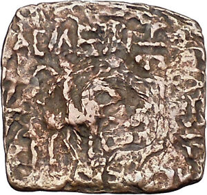 AZILISES-85BC-INDO-SKYTHIAN-King-on-Horse-Bull-Ancient-Greek-Coin-India-i47057