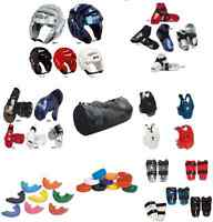 11 Pc Sparring Gear Set Package Head Hand Shin Foot Chest Guard Pads Karate Bag