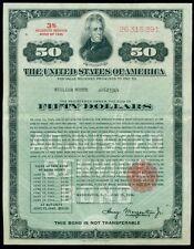 $50.00 Adjusted Service War Bond, VF, rarely offered