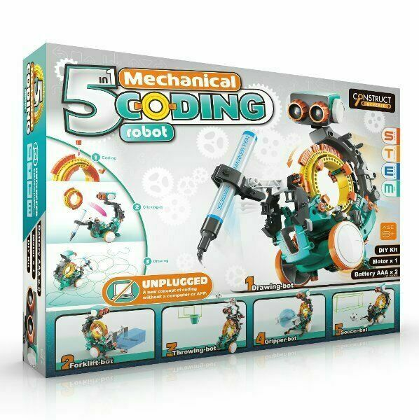 5 in 1 MECHANICAL CODING ROBOT DIY Kit STEM