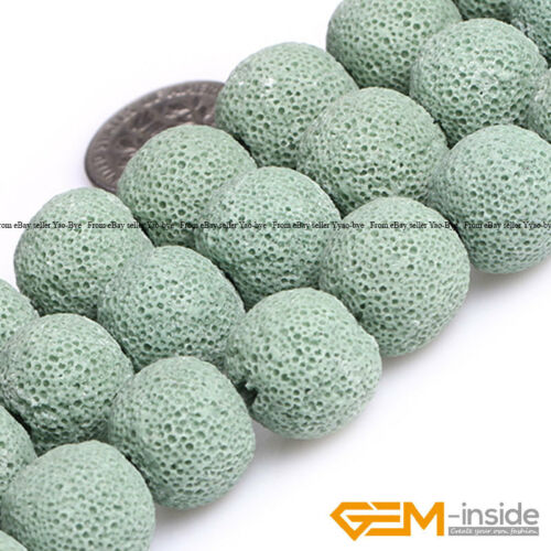 14mm Assorted Colors Lava Volcanic Sponge Round Ball Beads For Jewelry Making