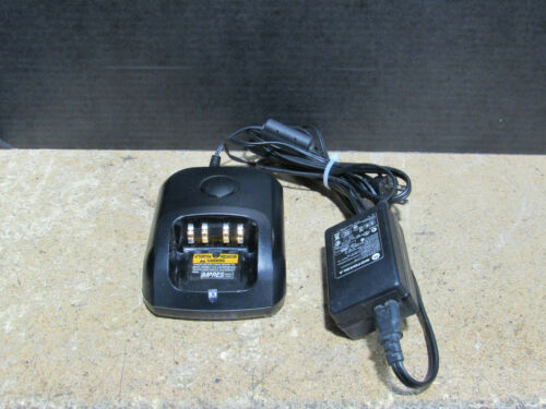 Motorola WPLN4243A 2-Way Radio Charger Dock w// Power Supply Tested and Working