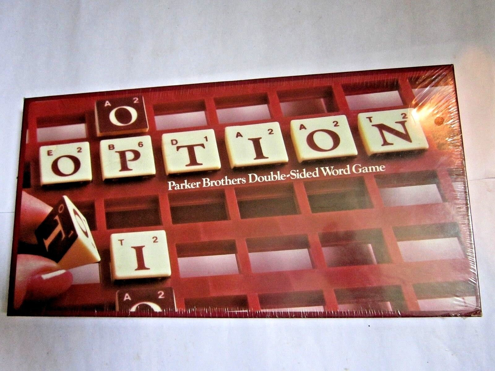 STILL SEALED Option 1983 Parker Brossohers Double-Sided Word Game Scrabble