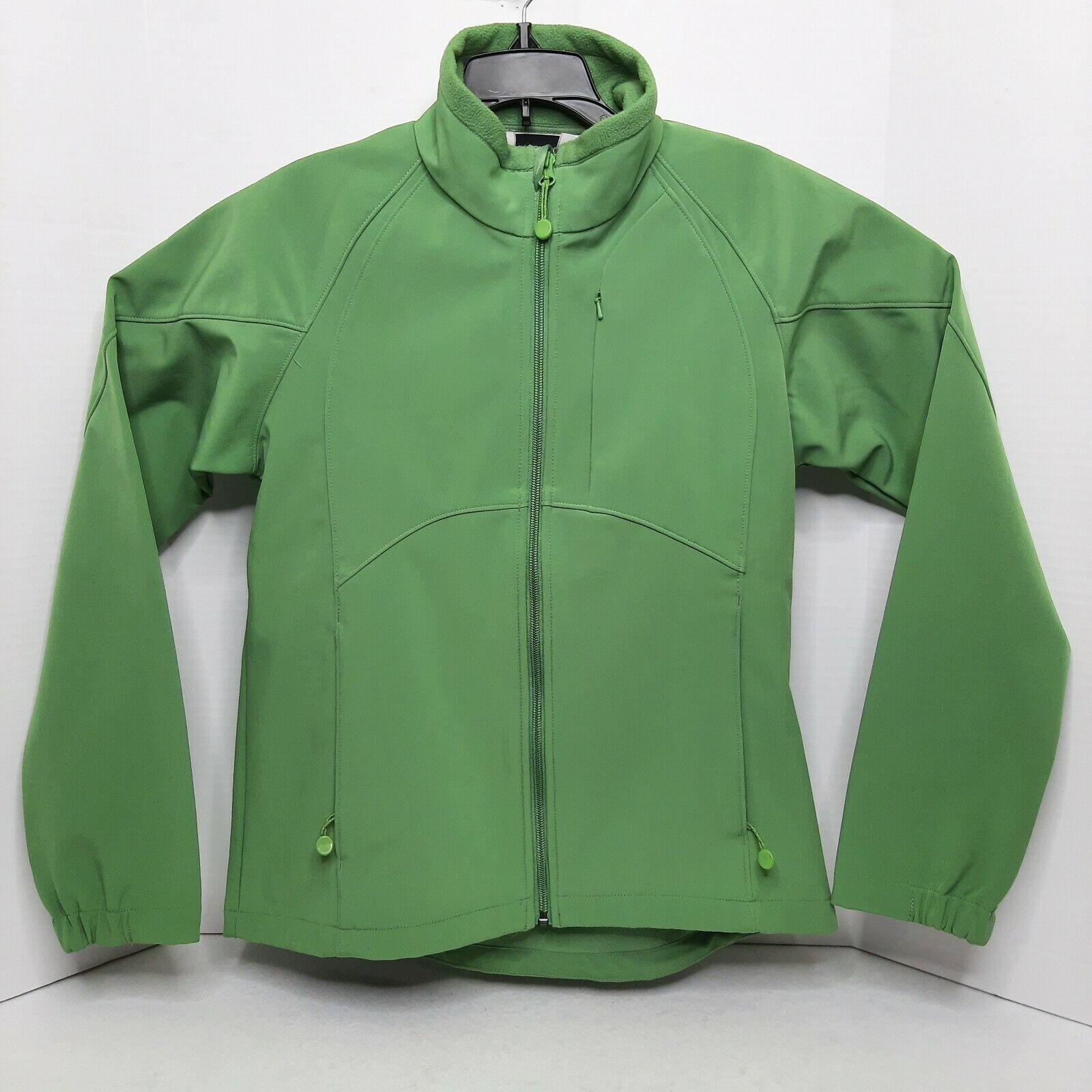 Black Diamond Women's Jacket Size Sm Soft Shell Fleece Lined Green Long Sleeve