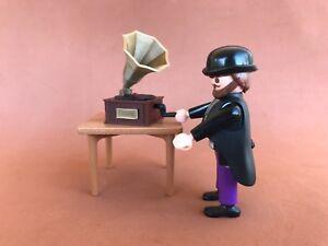 Grammophone-Gramophone-Miniature-Custom-Viktorianische-Figur-Playmobil-Nicht