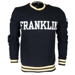 MF292-Cotton-Round-Neck-Printed-Franklin-Logo-Black-Sweatshirt