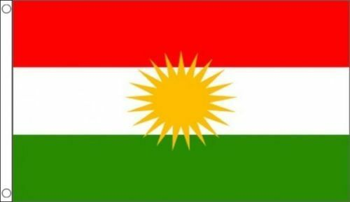 Kurdistan Flag 5ft x 3ft Kurdish National Flag with 2 metal eyelets