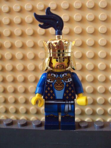 Lego Minifig ~ Crown King w//Gold Crown ~ Castle Kingdom Fantasy Era #e9hn