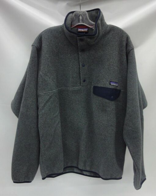 Patagonia Mens LW Synchilla Snap-T Pullover 25580 Nickel Navy Blue Extra  Large d86fbdc1d