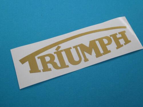 Triumph Schriftzug Logo Aufkleber Abziehbild  27mm x 100mm Gold Neu