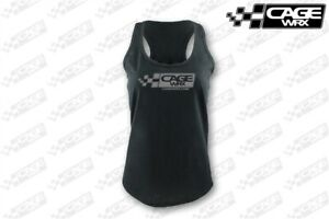 CAGEWRX-WOMEN-039-S-BASIC-LOGO-RACERBACK-TANK-BLACK-LARGE-L