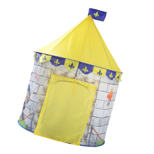 """Yellow Knight Themed Tent Indoor Play House for Boys /& Girls 39/""""L x 53/""""H"""