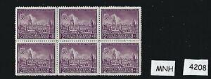 MNH-Stamp-block-12Gr-8Gr-1942-Lublin-Poland-Third-Reich-stamp-block
