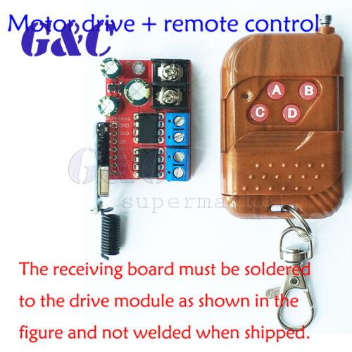 5A Dual Motor Drive Module Remote Control Forward and Reverse Double H Bridge