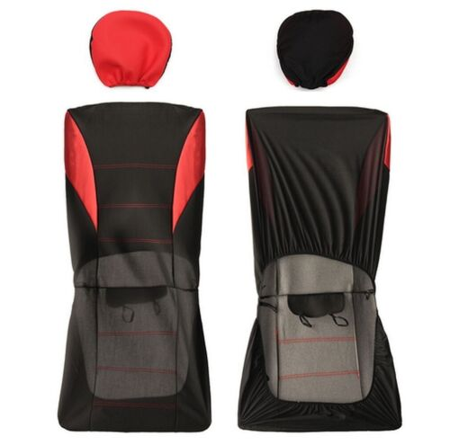 Toyota Yaris Ford Fiesta Focus Kuga 1+1 Red Seat Covers Breathable Fabric