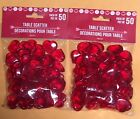 Valentine's 100 RED Acrylic Hearts Scatter Table Vase Decor Wedding Heart Annive