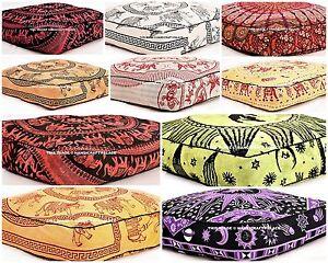 Mandala Indien Carré Sol Housse Coussin Boho Ottomane Pouf Extérieur Lit