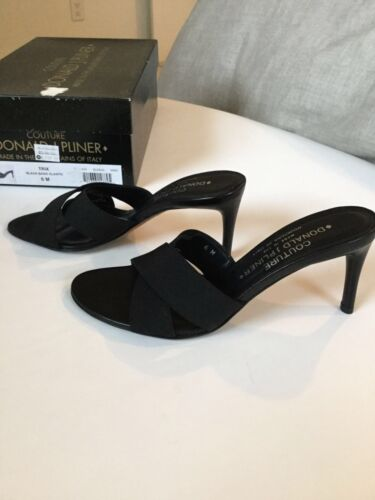 Taille 6 Sandals Box Donald JPliner 701333148895 New In Italy Black 4ALqSc35jR