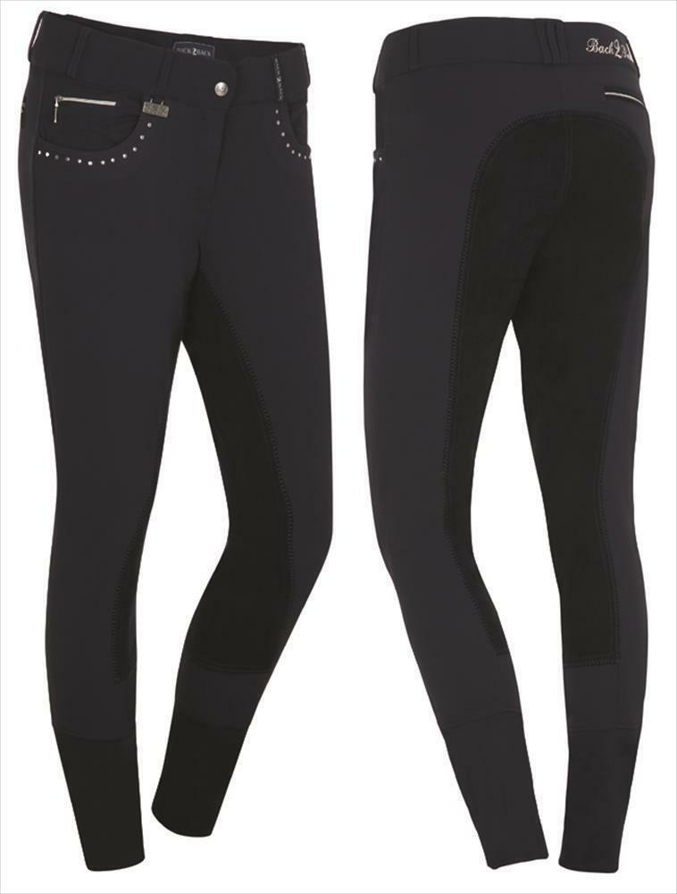 SCANHORSE Donna Pantaloni Montala Nancy procompletamente GUARNIZIONE IN PELLE