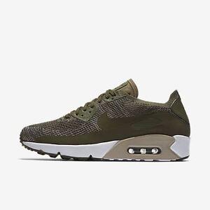16ea562e31ba2 Nike Air Max 90 Ultra 2.0 Flyknit # 875943 200 Olive Men SZ 7.5 - 13 ...