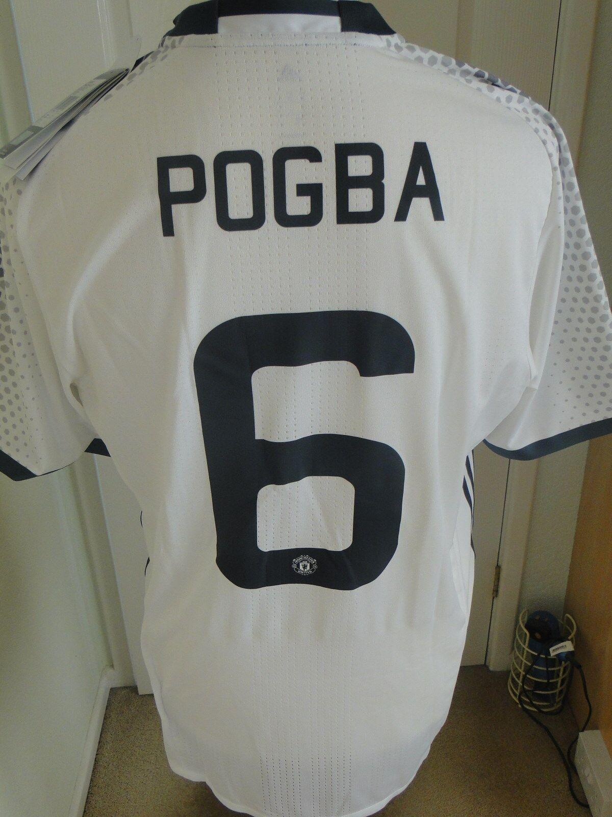 POGBA  Man Utd Away  Adizero  Cup match shirt 201617 nuova con etichetta Taglia X Large