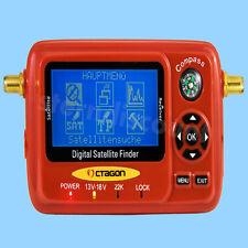 OCTAGON SAT-FINDER Messgerät SF-518 LCD 3 Zoll HDTV UHD 4K USB Spektrum Digital