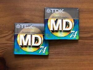 2x Rare US market livery Sealed Minidisc TDK MD-XG74 1997 Mini Disk - Italia - 2x Rare US market livery Sealed Minidisc TDK MD-XG74 1997 Mini Disk - Italia