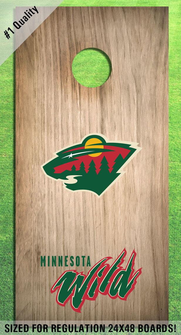 Minnesota Wild Corn Hole Bag Toss High Quality Decals HD - Full Set