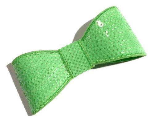 "DIY baby headband supplies Neon green JUMBO 5/"" sequin bow tie"