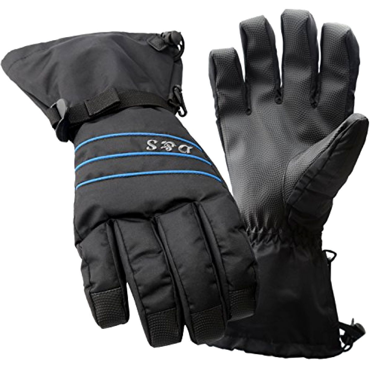 Cold Weather Gloves for Men Air Vent YND Waterproof Ski Snowboard Gloves with button