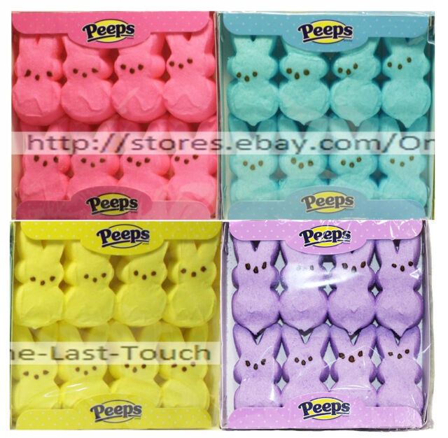 PEEPS^ 8pc Mini Pack MARSHMALLOW CANDY Gluten-Free BUNNIES Exp.2/20+*YOU CHOOSE*