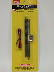 NEW-Micro-Trains-Z-Straight-Track-w-Electrical-Clip-amp-Wire-990-40-905-TOT1ES