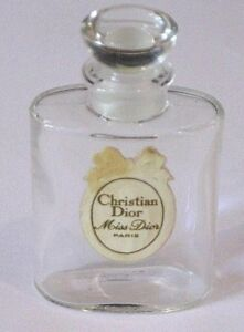 Lovely Vintage Christian Dior Miss Dior Crystal Class Perfume Bottle 1 Oz Open/empty #2 To Enjoy High Reputation At Home And Abroad Antiques