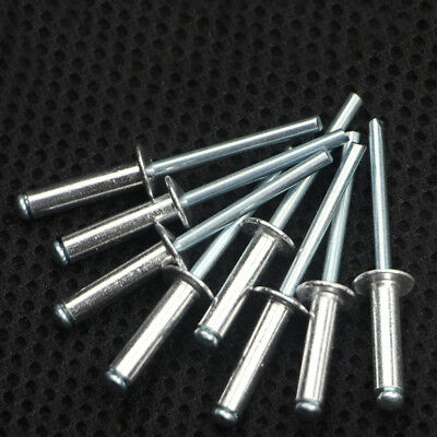 50Pcs M4 Black Dome Head Aluminum Mandrel Blind Pop Rivets Racing Fasteners