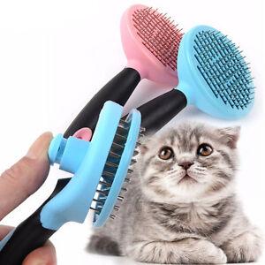 Spazzola-cane-gatto-animali-domestici-rimuovi-muta-perdita-pelo-denti-acciaio