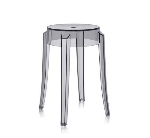KARTELL tabouret CHARLES GHOST hauteur 46 cm design de Philippe Starck