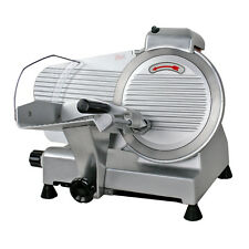 Electric Meat Slicer Stainless Steel 10 Blade Bread Cutter Deli Food Machine
