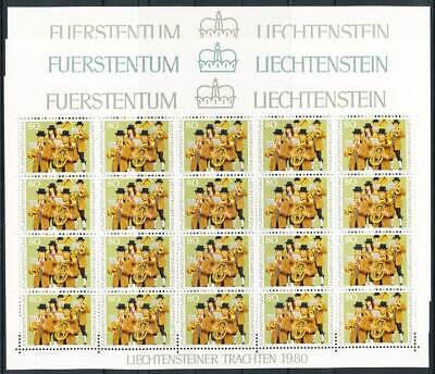 Liechtenstein Klbg Nr.754-6** Trachten Michel€ 40,00€ 233464