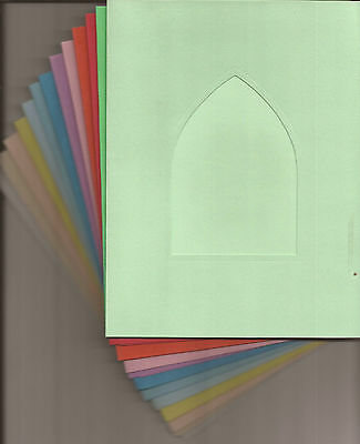 "8/"" x 6/"" Square Window//Aperture Card Blanks Perfect for your DIY Greeting Cards"