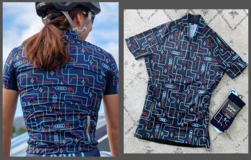 AUDI Pac-Man Cycling Jersey 2019 Women/'s M FREE VOLAR SOCKS Limited Edition