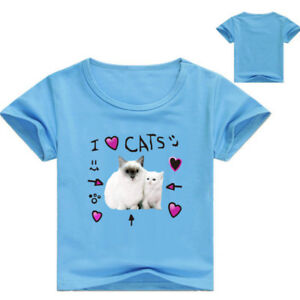 Dannisdaily I Love Cats Roblox Kid Adult T Shirt Size 2 12 And Xs