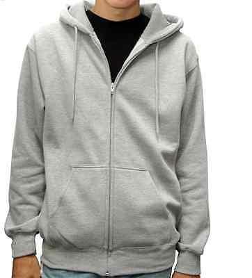 Men's Premium Full Zip Up Hoodie Classic Zipper Hooded Sweatshirt Cotton Soft