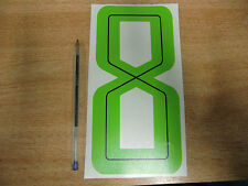 GUY MARTIN race number 8 - Green & Black Sticker / Decal large 200mm