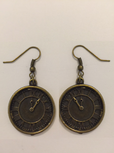 Steampunk Clock Earrings Antique Bronze Jewellery Time Watch Vintage Style - Oxford, United Kingdom - Returns accepted Most purchases from business sellers are protected by the Consumer Contract Regulations 2013 which give you the right to cancel the purchase within 14 days after the day you receive the item. Find out more about y - Oxford, United Kingdom