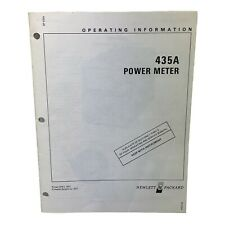 Hp 435a Power Meter Operating Information Manual